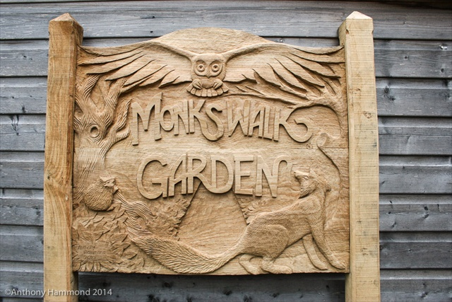 Monkswalk Garden signage